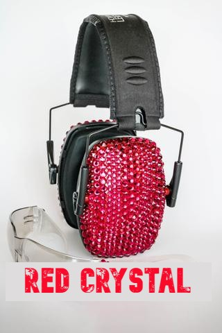 Red Sparkle Electronic Shooting Ear Muffs