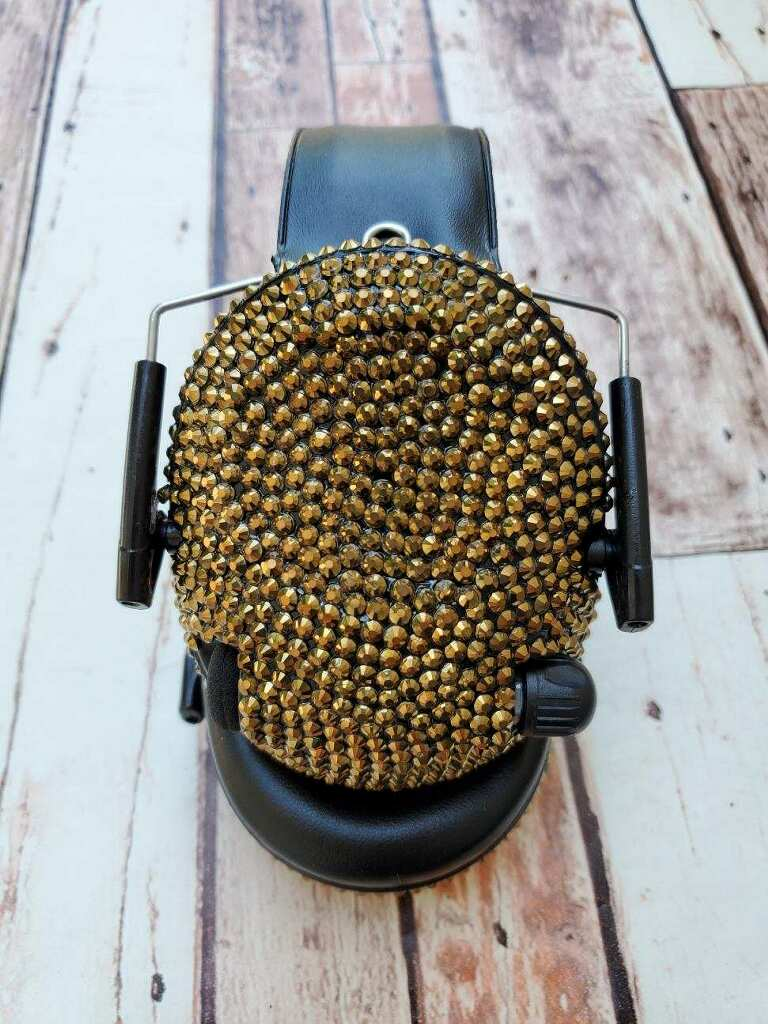 Gold Crystal Electronic Shooting Ear Muffs