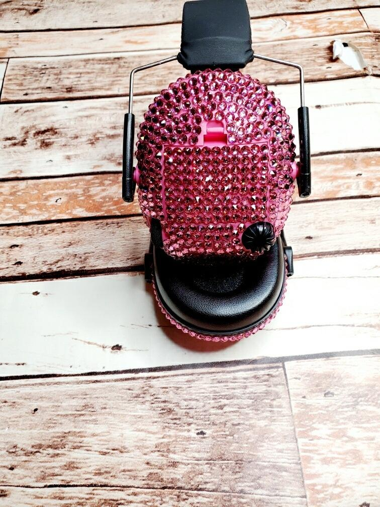 Pink Blinged Out Electronic Shooting Ear Muffs