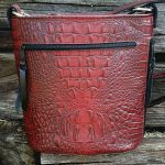 Melot Red Croc Concealed Carry Purse Bucket