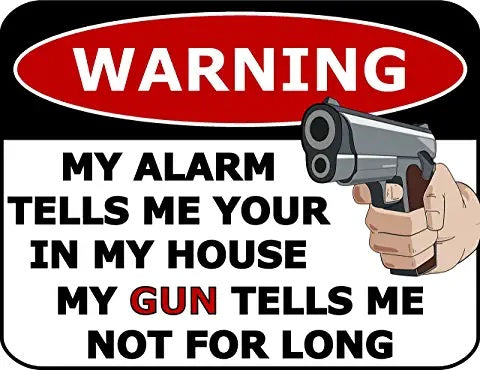 WARNING Sign - [2nd Amendment]