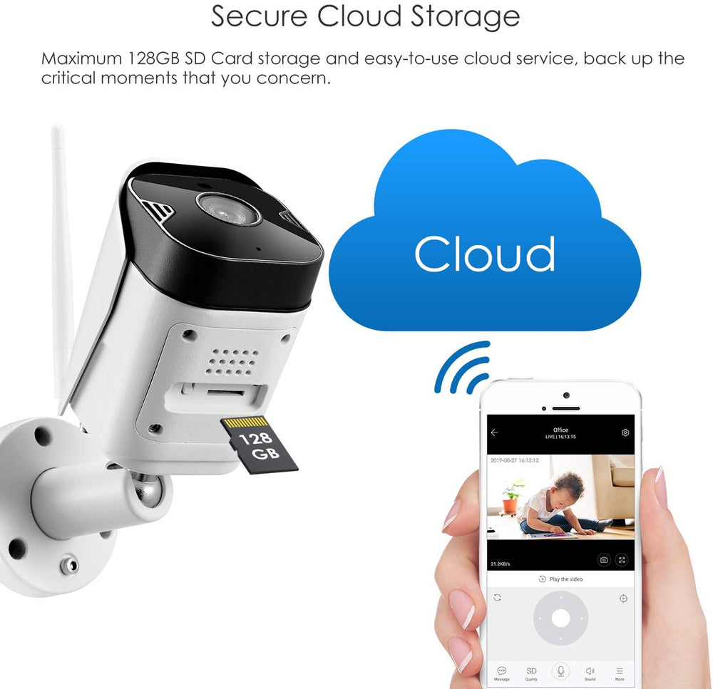 Weatherproof Wifi - Smart IP Security Camera (with night vision)