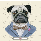 Jigsaw Puzzle 25 Pieces -  6 Wooden Puzzles