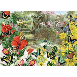 Jigsaw Puzzle 1000 Piece - Peacock in the Garden