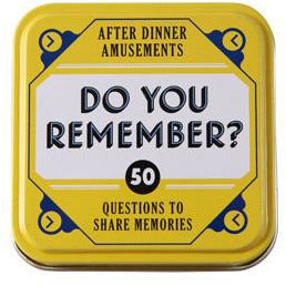 Do You Remember Trivia Cards