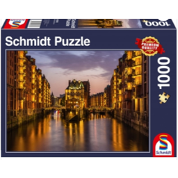 Jigsaw Puzzle 1000 Piece- Hamburg Night
