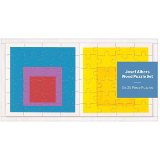 Jigsaw Puzzle - Josef Albers. 6 x 25 Pce Puzzles