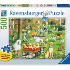 Jigsaw Puzzle 500 Piece Large Format- At the Dog Park