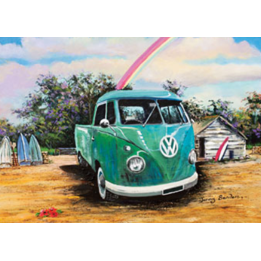 Jigsaw Puzzle 1000 Piece - Green Combi Ute
