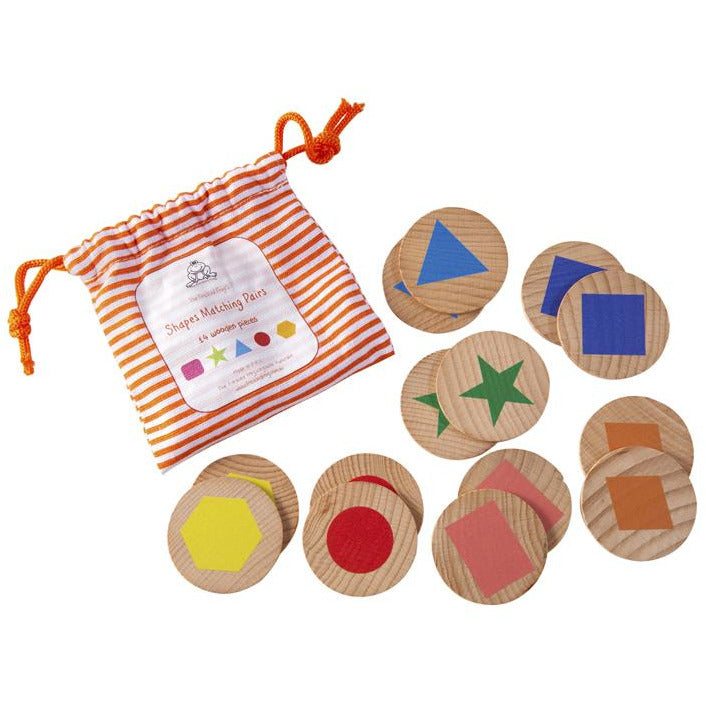 Memory Game - Shapes Wooden Matching Pairs