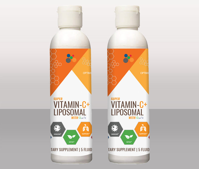 2 Bottles of Super Vitamin C+ Liposomal with GOLD Standard Quali-C