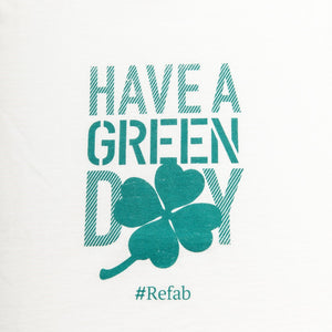 T-shirt recyclé femme  « Have a Green Day » - RefabMarket