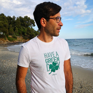 T-shirt recyclé homme  « Have a green day » - RefabMarket