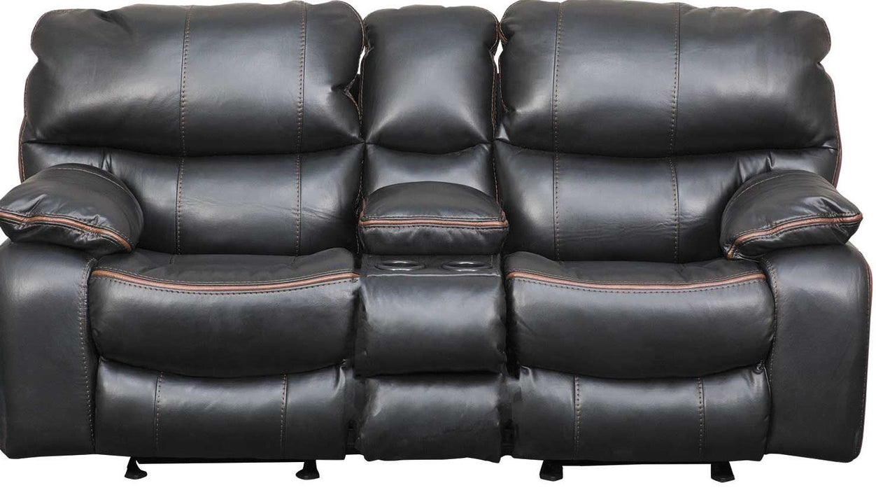 Catnapper Camden Power Lay Flat Reclining Console Loveseat in Black 64089/1152-8/1252-8 image