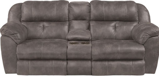Catnapper Ferrington Power Headrest Power Lay Flat Reclining Console Loveseat in Steel image