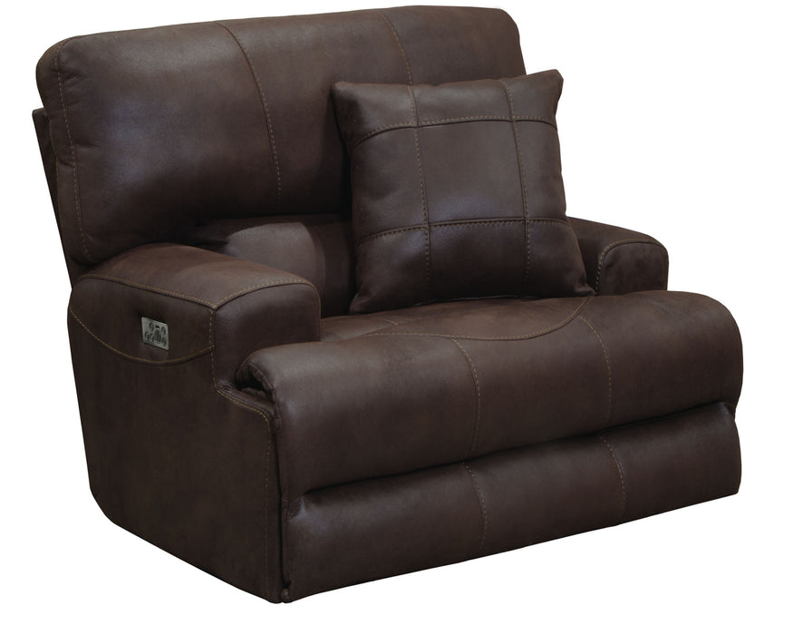 Catnapper Monaco Lay Flat Recliner in Dark Chocolate 2180-7 image