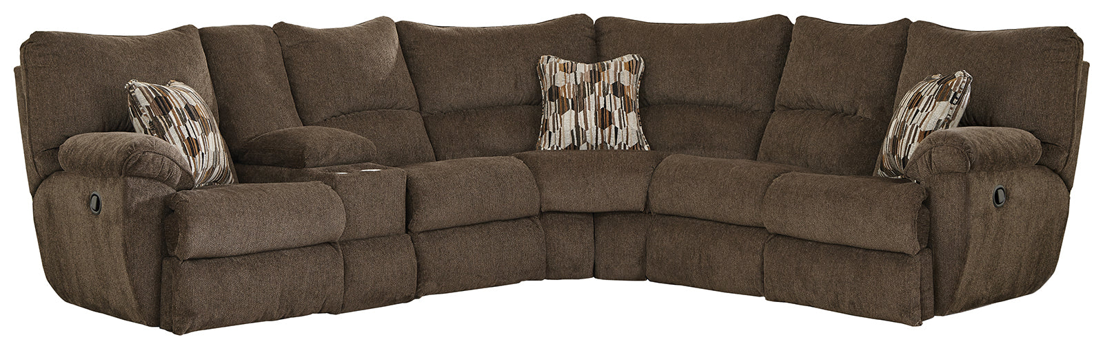 Catnapper Elliott 2pc Lay Flat Reclining Sectional in Chocolate image