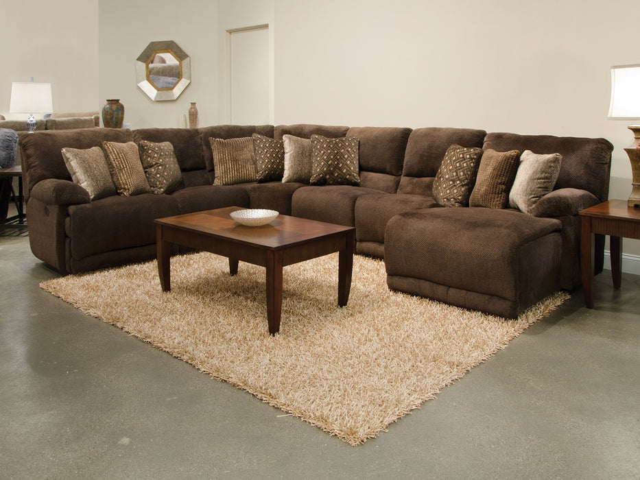 Catnapper Furniture Burbank Power Lay Flat Right Side Facing  Recliner in Chocolate 62817/1806-49/2642-49 image