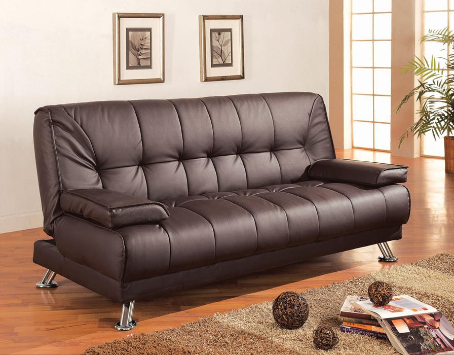 G300148 Casual Brown and Chrome Sofa Bed image