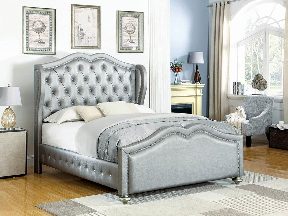Belmont Grey Upholstered Full Bed