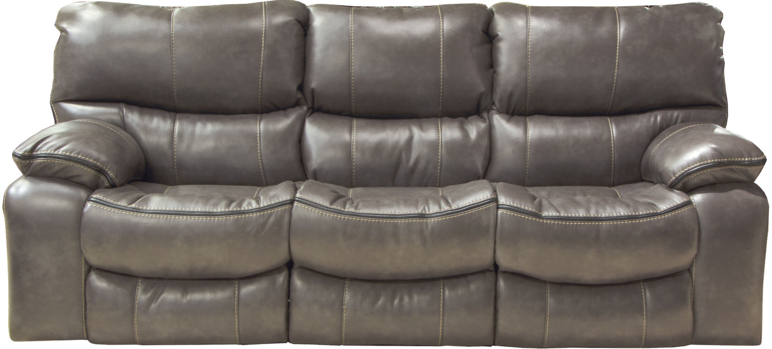 Catnapper Camden Power Lay Flat Reclining Sofa in Steel 64081 image