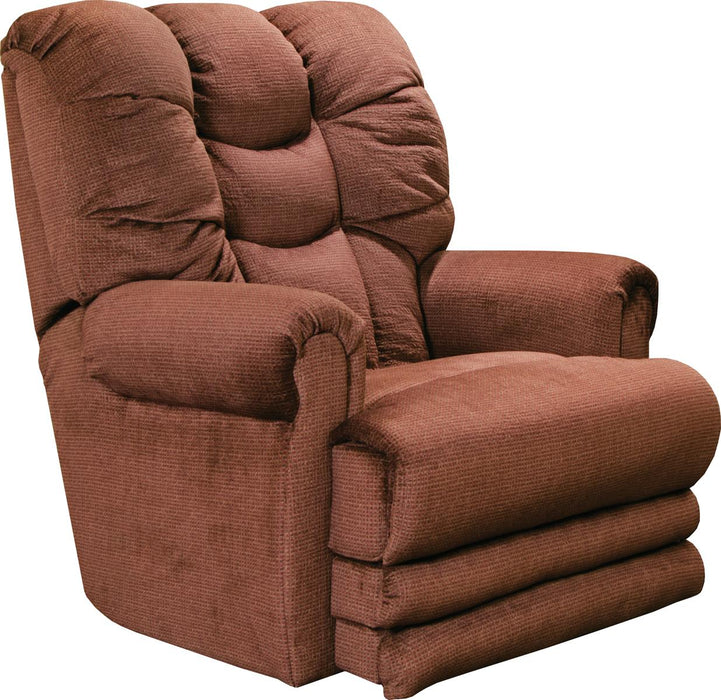 Catnapper Malone Lay Flat Recliner with Extended Ottoman in Merlot image