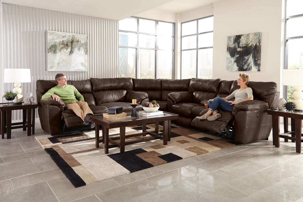 Catnapper Milan 3pcs Lay Flat Sectional Set in Chocolate image