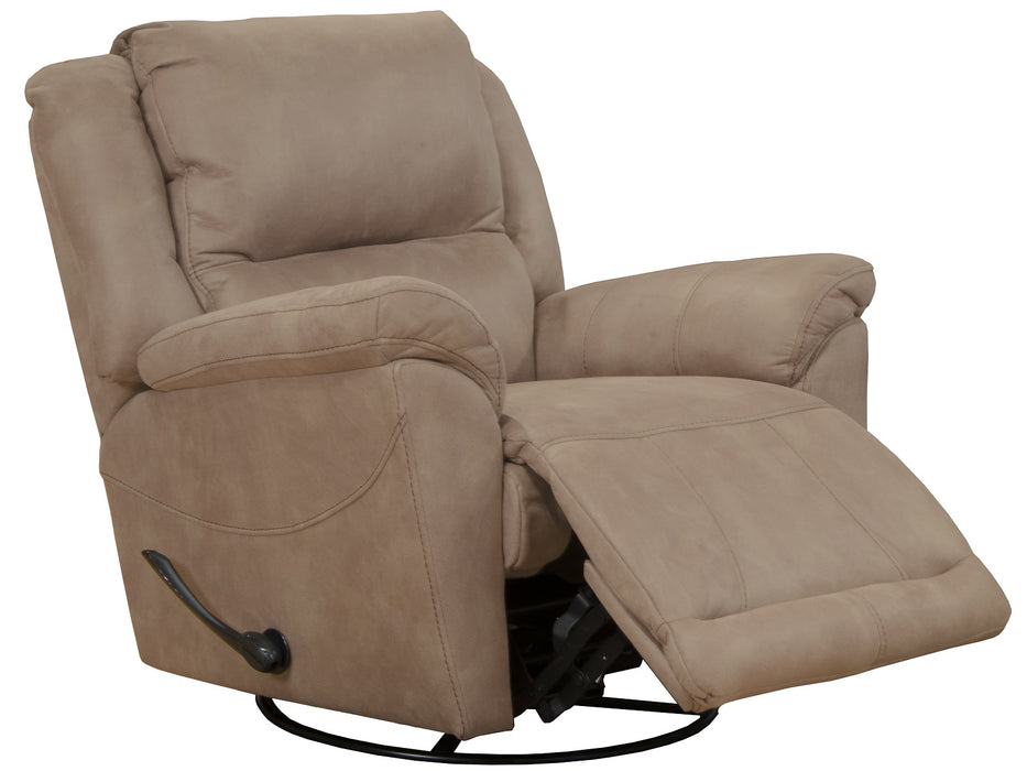 Catnapper Furniture Cole Chaise Swivel Glider Recliner in Camel 45665/1153-36/1253-36 image