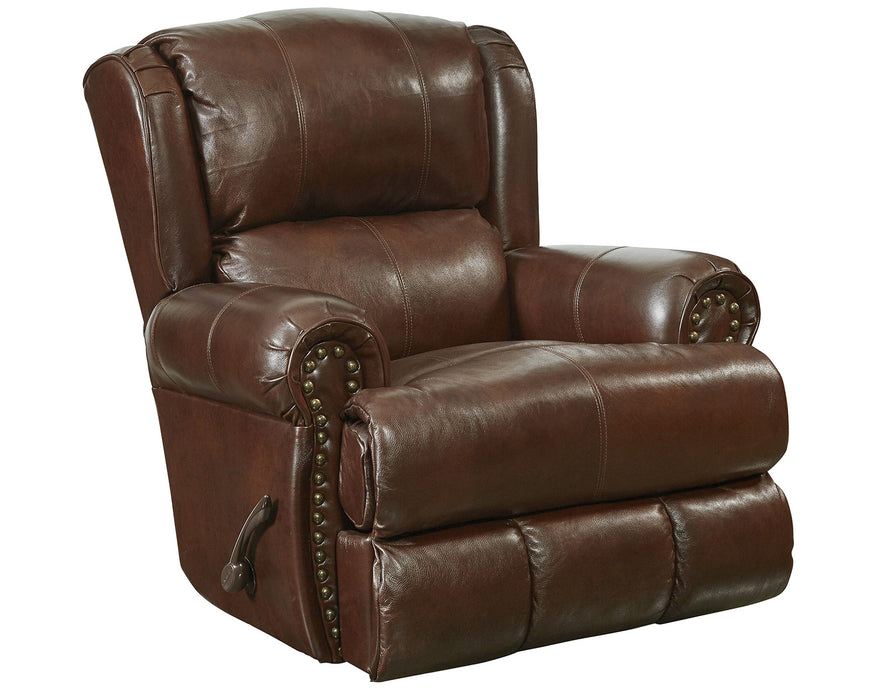 Catnapper Duncan Power Deluxe Lay Flat Recliner in Walnut image