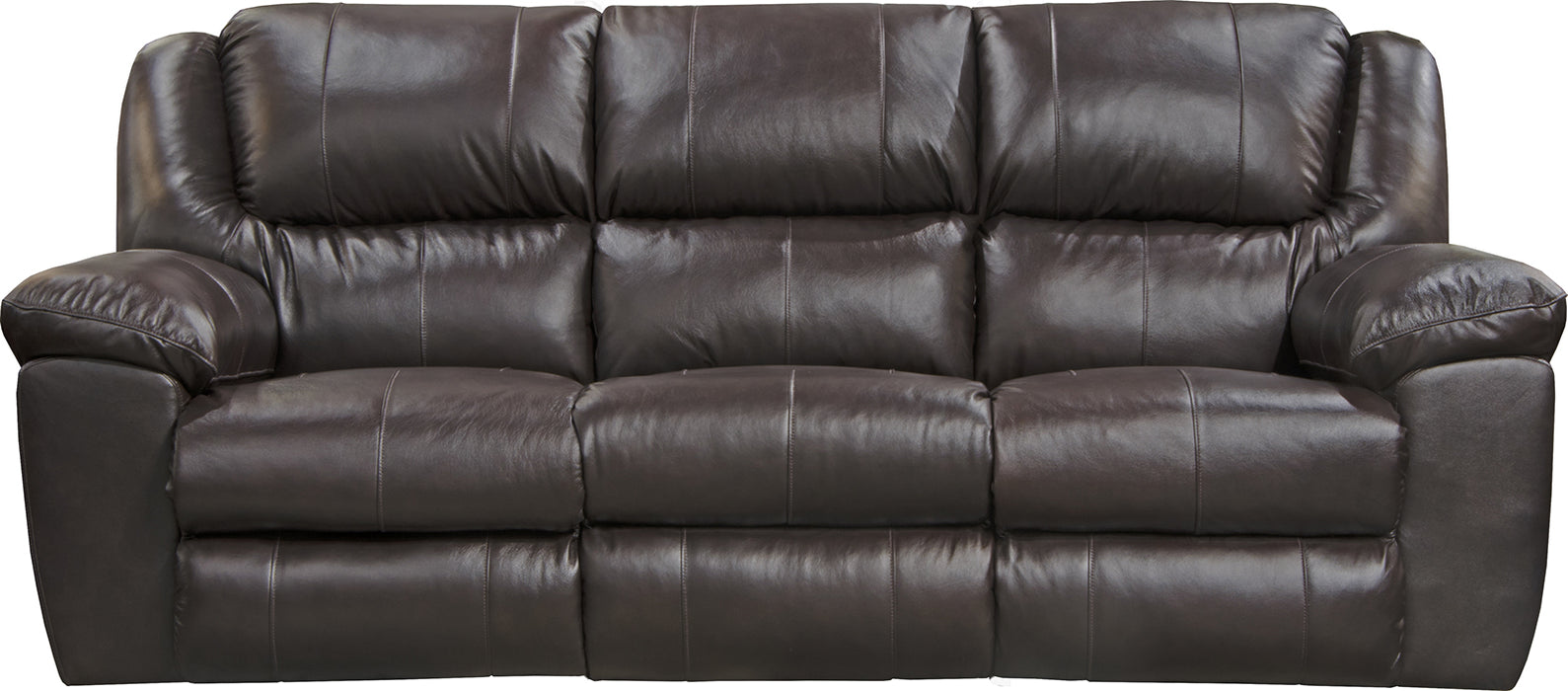 Catnapper Furniture Transformer II Ultimate Sofa with 3 Recliners and Drop Down Table in Chocolate image