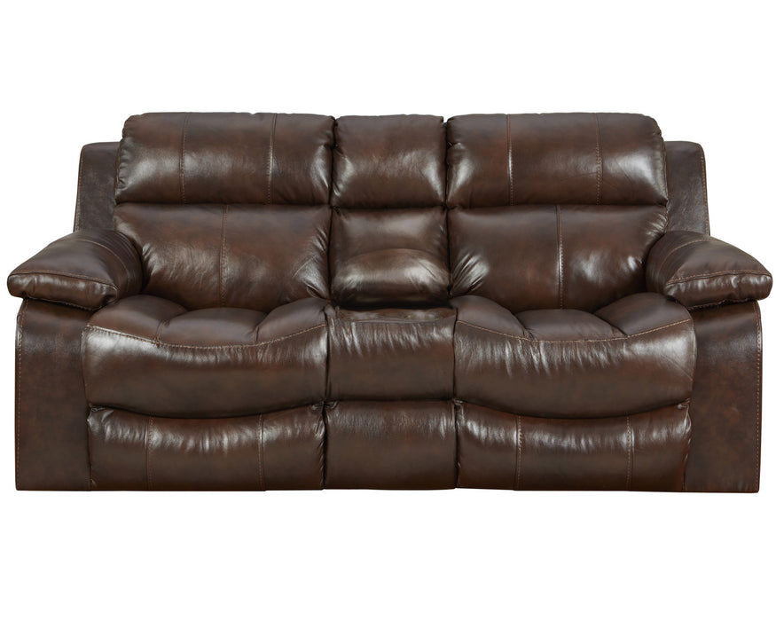 Catnapper Furniture Positano Reclining Console Loveseat w/ Storage & Cupholders in Cocoa 4999/1268-09/3068-09 image