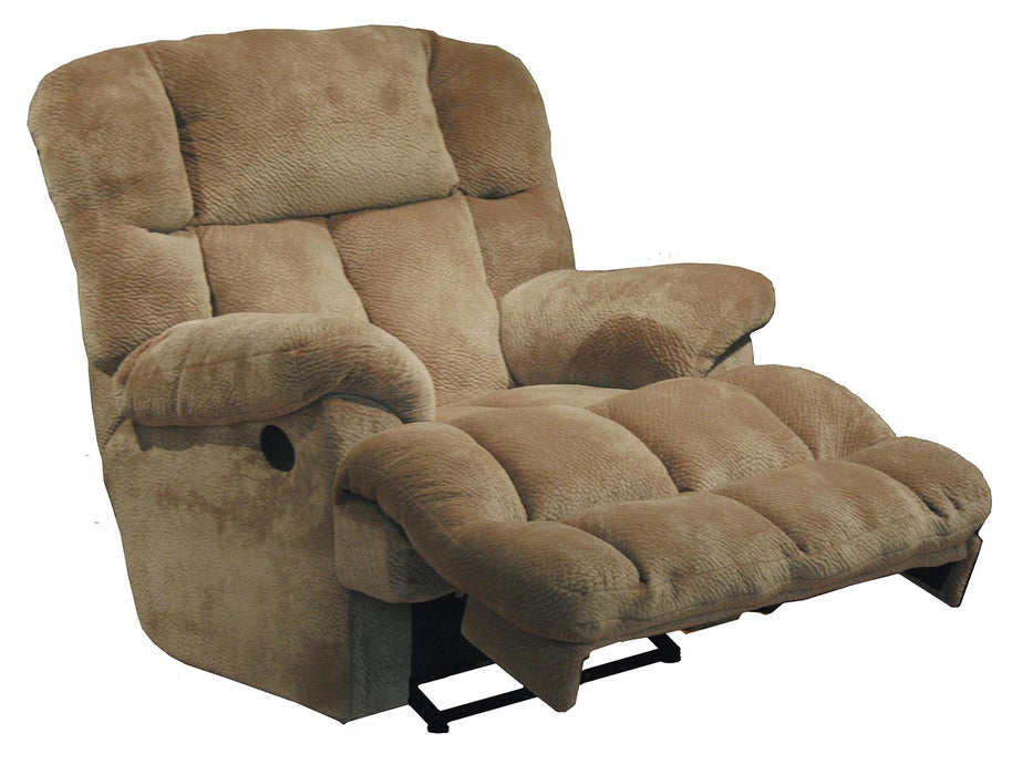 Catnapper Cloud 12 Power Chaise Lay Flat Recliner in Camel image