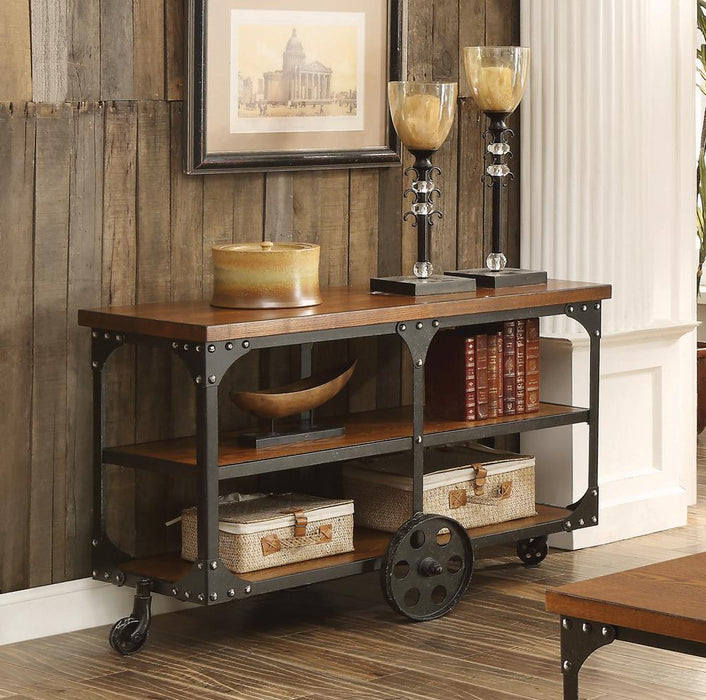 Rustic Cherry Sofa Table