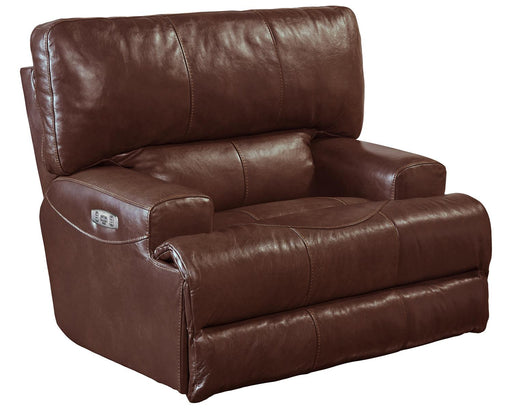 Catnapper Wembley Power Headrest w/ Lumbar Lay Flat Recliner in Walnut 764580-7 image