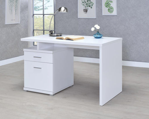 G800110 Contemporary White Executive Desk image