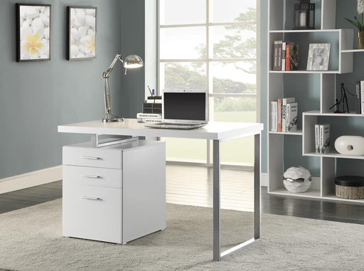 G800325 Contemporary White Writing Desk image