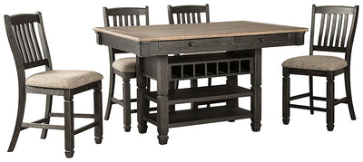 Tyler Creek Signature Design Counter Height 5-Piece Dining Room Set