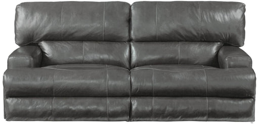Catnapper Wembley Power Headrest w/ Lumbar Lay Flat Reclining Sofa in Steel image