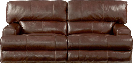 Catnapper Wembley Power Headrest Lay Flat Reclining Sofa in Walnut image