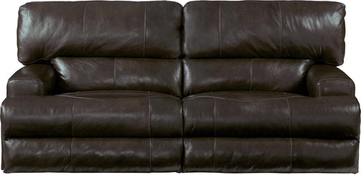 Catnapper Wembley Power Headrest Lay Flat Reclining Sofa in Chocolate image
