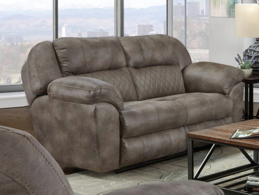 Catnapper Furniture Flynn Power Headrest w/ Lumbar Power Lay Flat Gliding Loveseat in Fig 762452-6/1455-19/1456-19 image