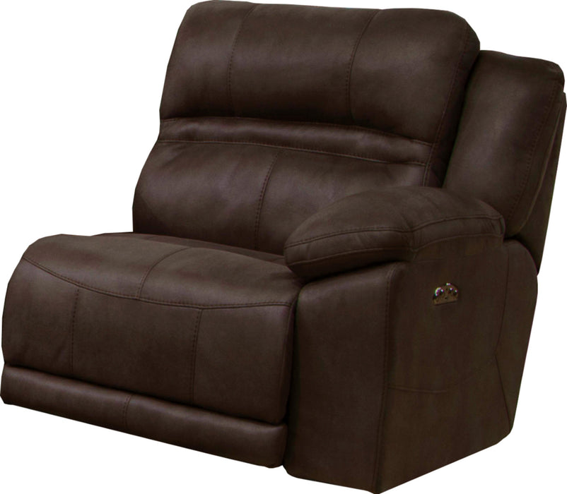 Catnapper Braxton Power Headrest w/Lumbar RSF Recliner w/Extended Ottoman in Dark Chocolate 762157 image