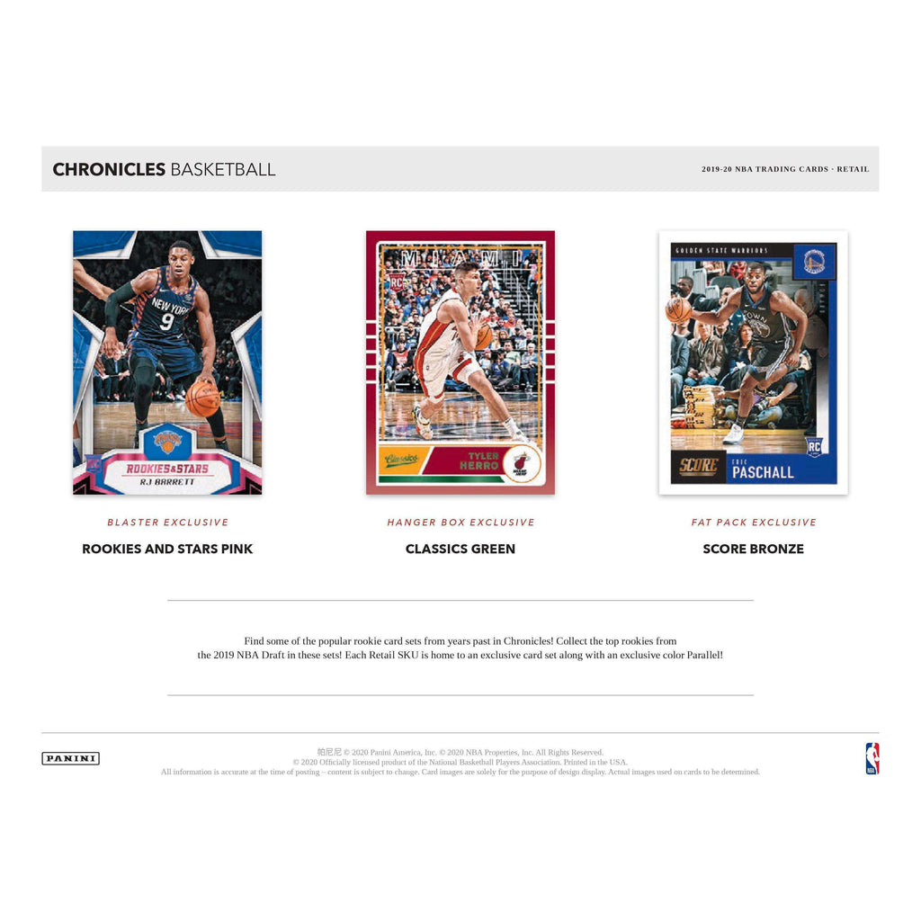 2019-20 CHRONICLES BASKETBALL VALUE PACK