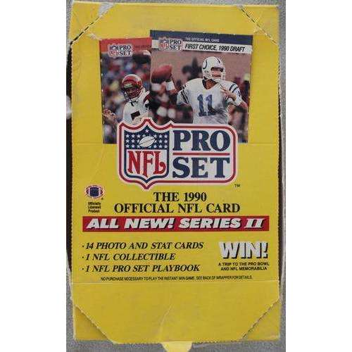 1990 PRO SET SERIES 2 FOOTBALL WAX STACK