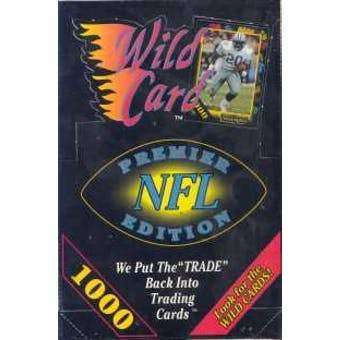 1991 WILD CARD FOOTBALL WAX STACK