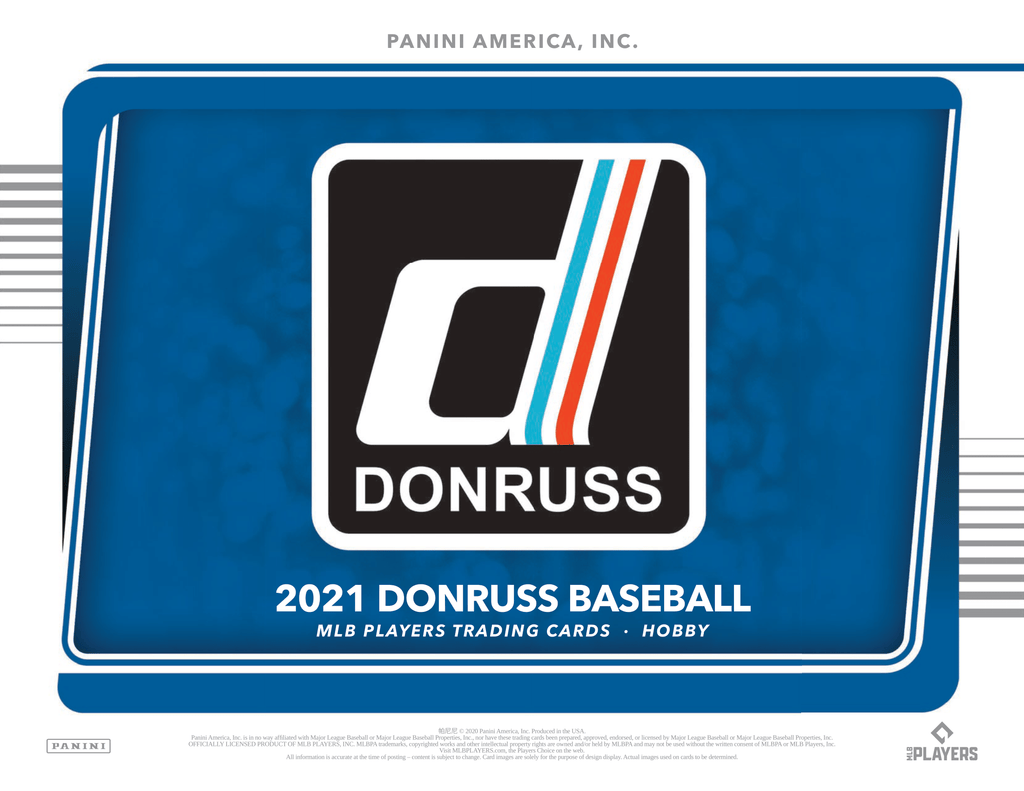 2021 DONRUSS BASEBALL SINGLE HOBBY BOX W/ 2 AUTOS + 29 PARALLELS + BREAK #4 (LIMIT 5 PER PERSON)