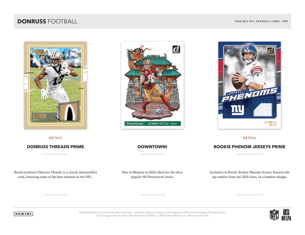 2020 DONRUSS FOOTBALL BLASTER BOX