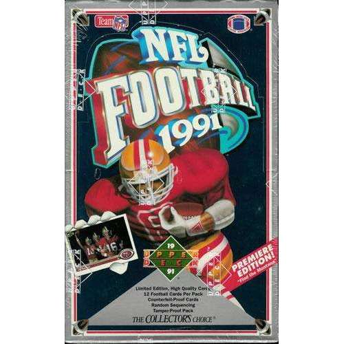 1991 UPPER DECK FOOTBALL LOW SERIES WAX STACK