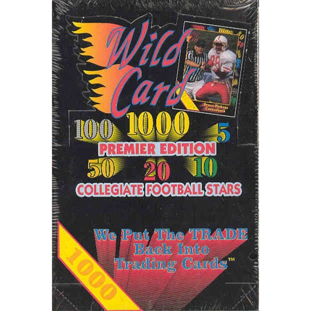 1991 WILD CARD COLLEGIATE FOOTBALL HOBBY STACK