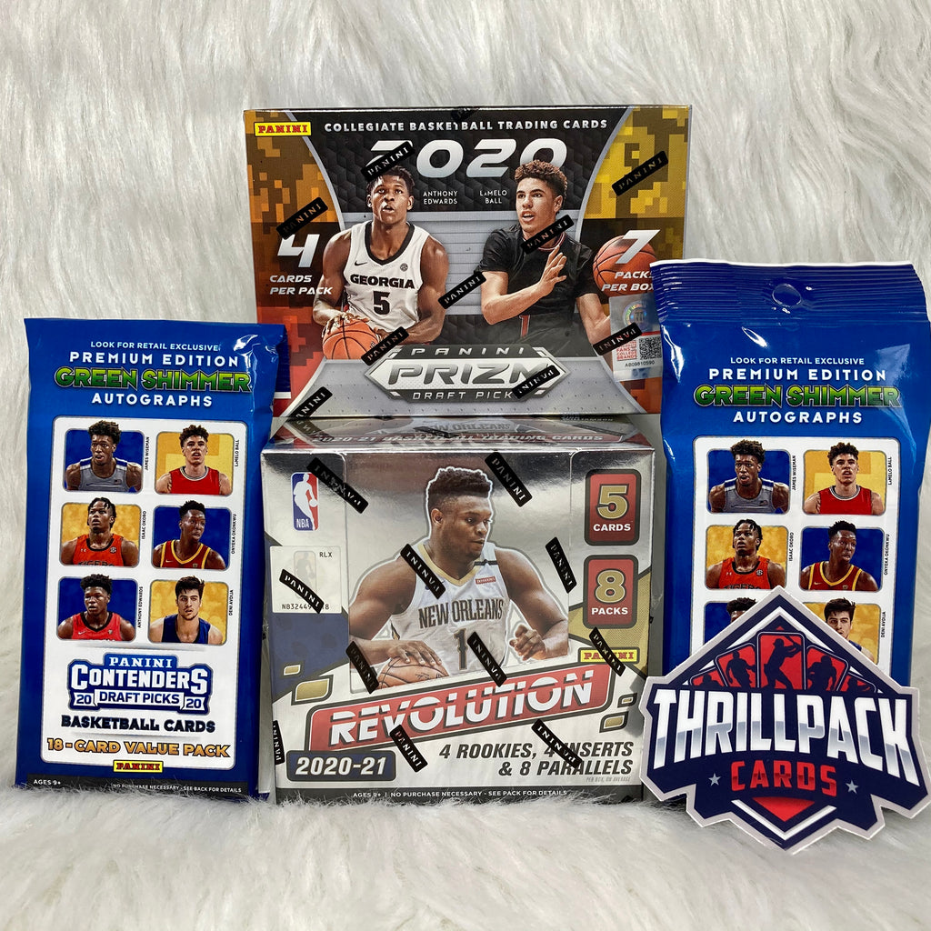 2020-21 REVOLUTION HOBBY + PRIZM DRAFT + CONTENDERS BASKETBALL MIXER W/ 15 PARALLELS + 4 INSERTS